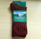 Mens Tweed Socks Bordo