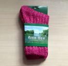 Ladies Tweed Socks Rose