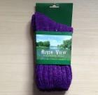 Ladies Tweed Socks Violet
