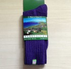 Kerry Socks Ladies Lambswool Purple