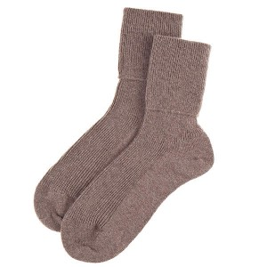 brown cashmere socks
