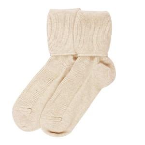 cashmere socks cream